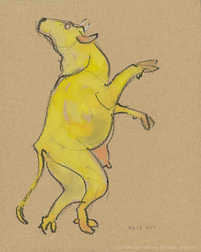 Eine gelbe Kuh